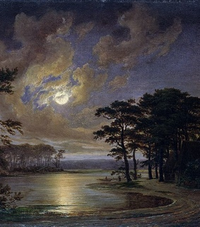night, 1847 and landscape