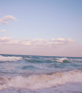 beach, blue and pastel