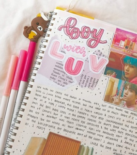 bullet journal, bts and kpop