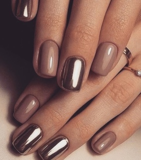 brown, beauty and nails