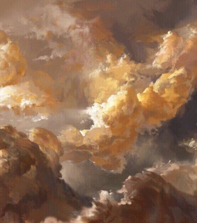clouds, painting and white