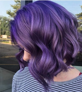 hairstyles, purple hair and hair color