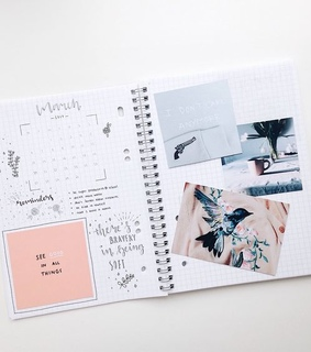 bujo, journal and supplies