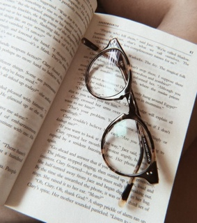 glasses, book and book aesthetic