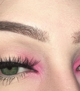 eyeshadow, beautiful and pink