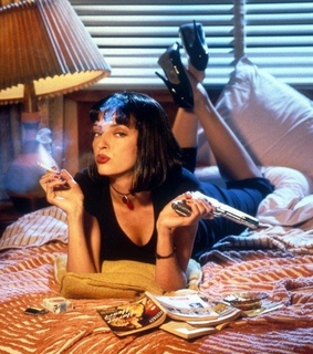 pulp fiction, cigarette and mia wallace