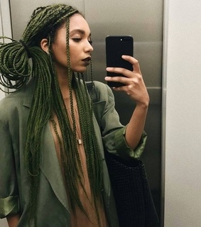stylish, melanin and green