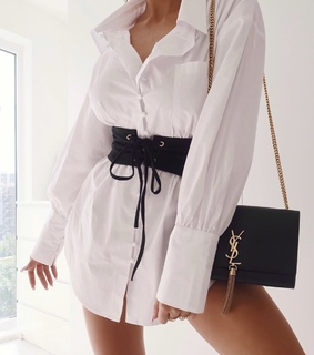 white, outfits and shirt