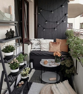 notebook, decor and balcony