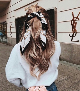 scarf, hair inspiration and blonde hair