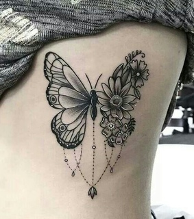 body, butterfly tattoo and butterfly