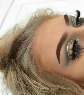blue, eyes and makeup