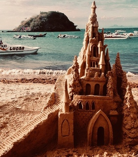 places, sandcastle and fashion