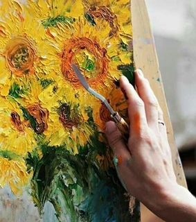 art, yellow and flowers