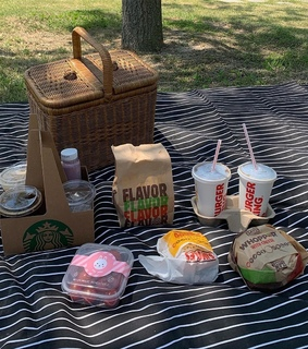 relax, picnic and food