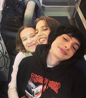 maya hawke, millie bobby brown and mileven