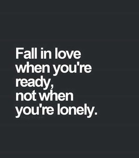 single, falling in love and quote