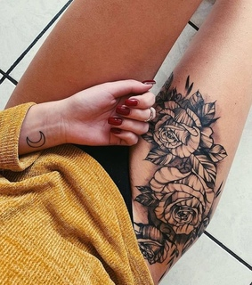 roses, Tattoos and ink