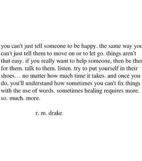 real friends, quote and rmdrake