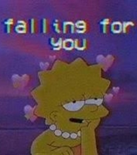 aesthetic, simpsons and love