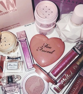 girly, pink and makeup