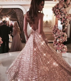 rose gold, fancy and gown