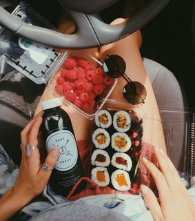 aesthetic, food and sushi