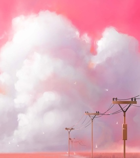 sky, pink and background