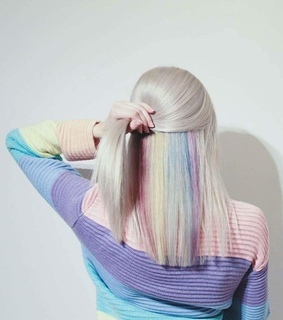 pastel, white and rainbow