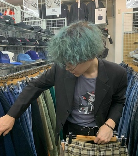 green hair, japanese boy and indie