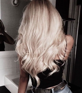 hair, blonde and curly