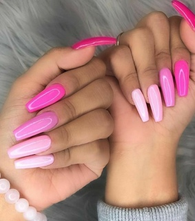 pink, trend and nails inspiration