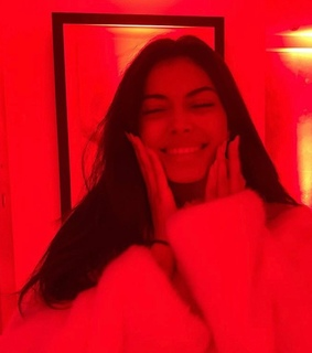 smiling, light and redlights