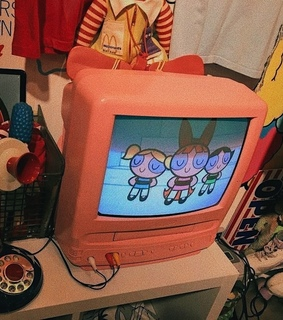 television, pink and cute