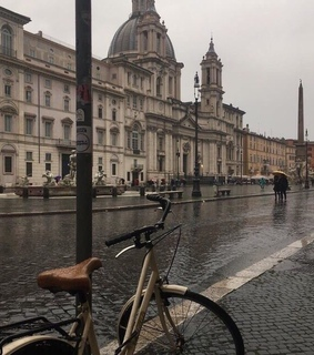 italy, rain and building