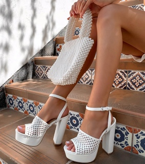 white, nails and sandals