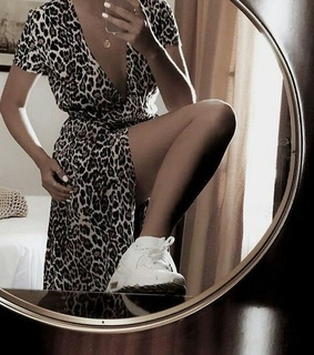 dress and leopard
