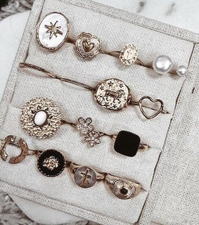 white, rings and aesthetic