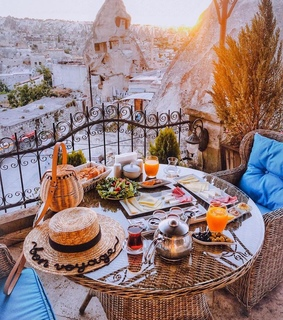 vacation, cappadocia and breakfast