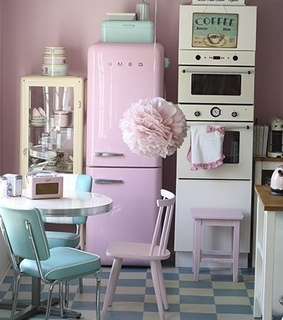 vintage, house and pink