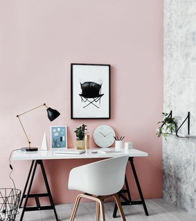 interior inspiration, pink and art