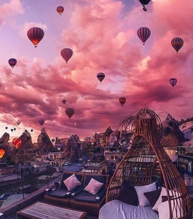 cappadocia, sunset and turkey