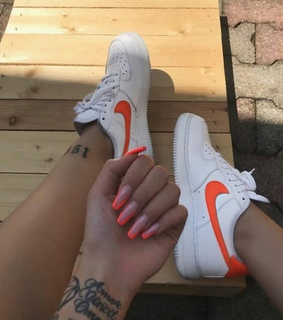 sneaker, nike and nail