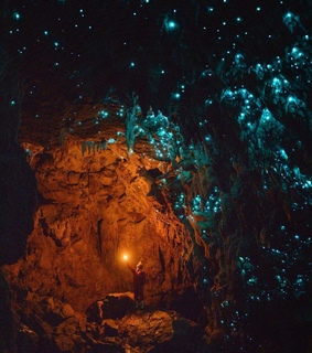 glowworm cave, stars and travel