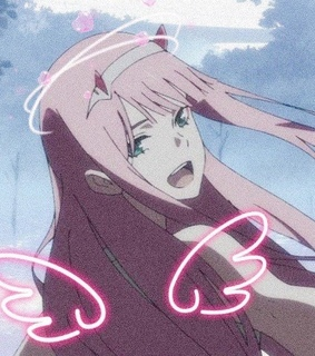 icons, zero two and darling in the franxx