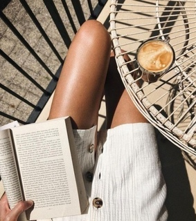 summer, reading and coffee