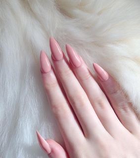 almond, white and nails