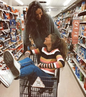 shopping trolley, that's gang and shopping