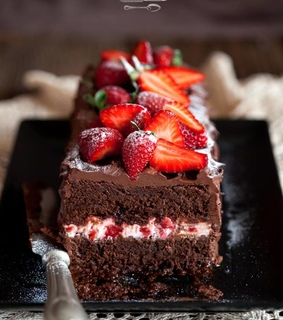 food, yummy and strawberries