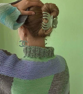 knit, green and chanel
